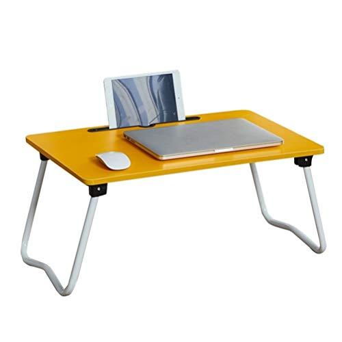 Laptoptafel voor bed opvouwbaar bedlade draagbaar lap-bureau met opvouwbare poten en kaartsleuf, voor bed/bank/bank