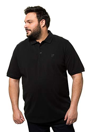 JP 1880 Herren große Größen Übergrößen Menswear L-8XL bis 8XL, T-Shirt, Poloshir, JP1880-Brustdruck, Bauchshirt, Piqué, schwarz 6XL 712617 10-6XL
