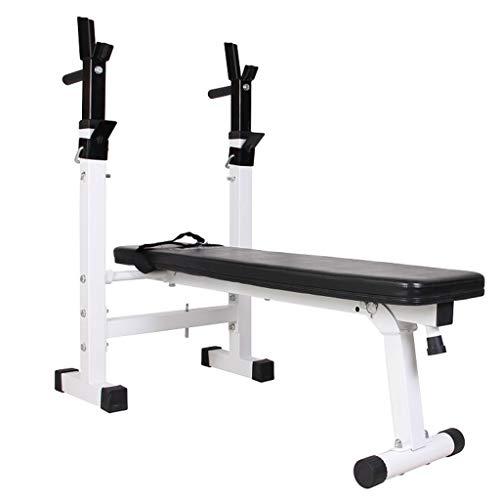 Folding weight table Hantelbänk multifunktionell bänkpress hopfällbar squat-ställning hem träningsutrustning (färg: Svart, storlek: 110 x 29,5 x 190 cm)