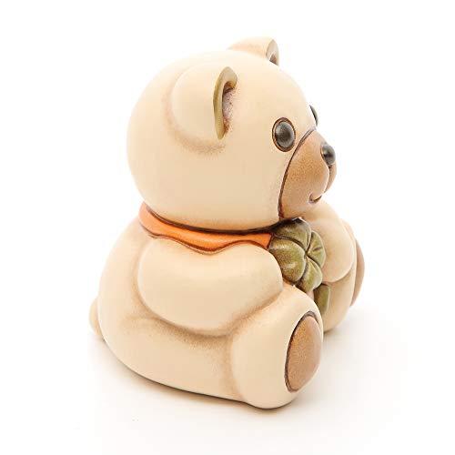 THUN® - Teddy Raul Piccolo con Quadrifoglio - Animali da Soprammobile da Collezione - Ceramica - I Classici