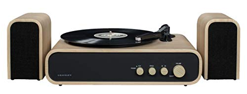 Crosley Gig Plattenspieler mit Zwei Geschwindigkeiten mit Lautsprecher und Bluetooth-Empfänger - Braun