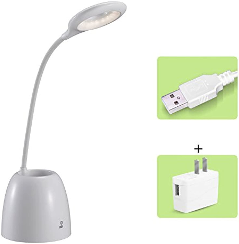 Gedmpfte Licht LED Schreibtischlampe Energiesparlampe Wei Licht Dimmer Studenten Eyeshield Tischlampe Mit Stift Container ( design   B )