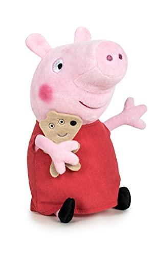 Peppa Pig - Animali di peluche con dino/orso/orso/classico e nuova variante (31-34 cm, Peppa Pig con orso)