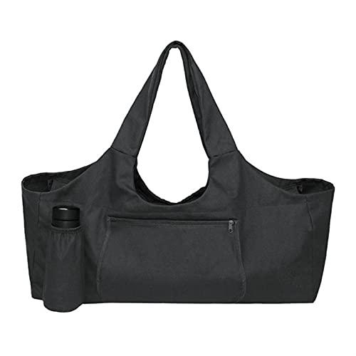 WGDPMGM Bolsas colchoneta Yoga Lona Yoga Mat Bag GIM Gym Bolsa de Asas con Bolsillo Deportivo Bolsa Grande Capacidad Yoga Mat Bag Strap (Color : Negro)