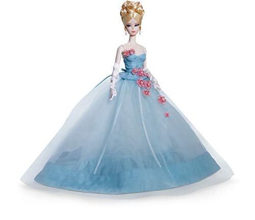 Barbie Fashion Model Collection The Gala's Best Doll, 13.5-in Signature Doll with Silkstone Body in Blue Gown, with Certificate of Authenticity
