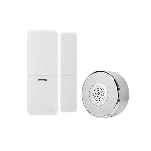DAUERHAFT Alarma de Seguridad PIR con Timbre y función de luz Nocturna Sensores de Seguridad antirrobo para Google Home(European regulations)
