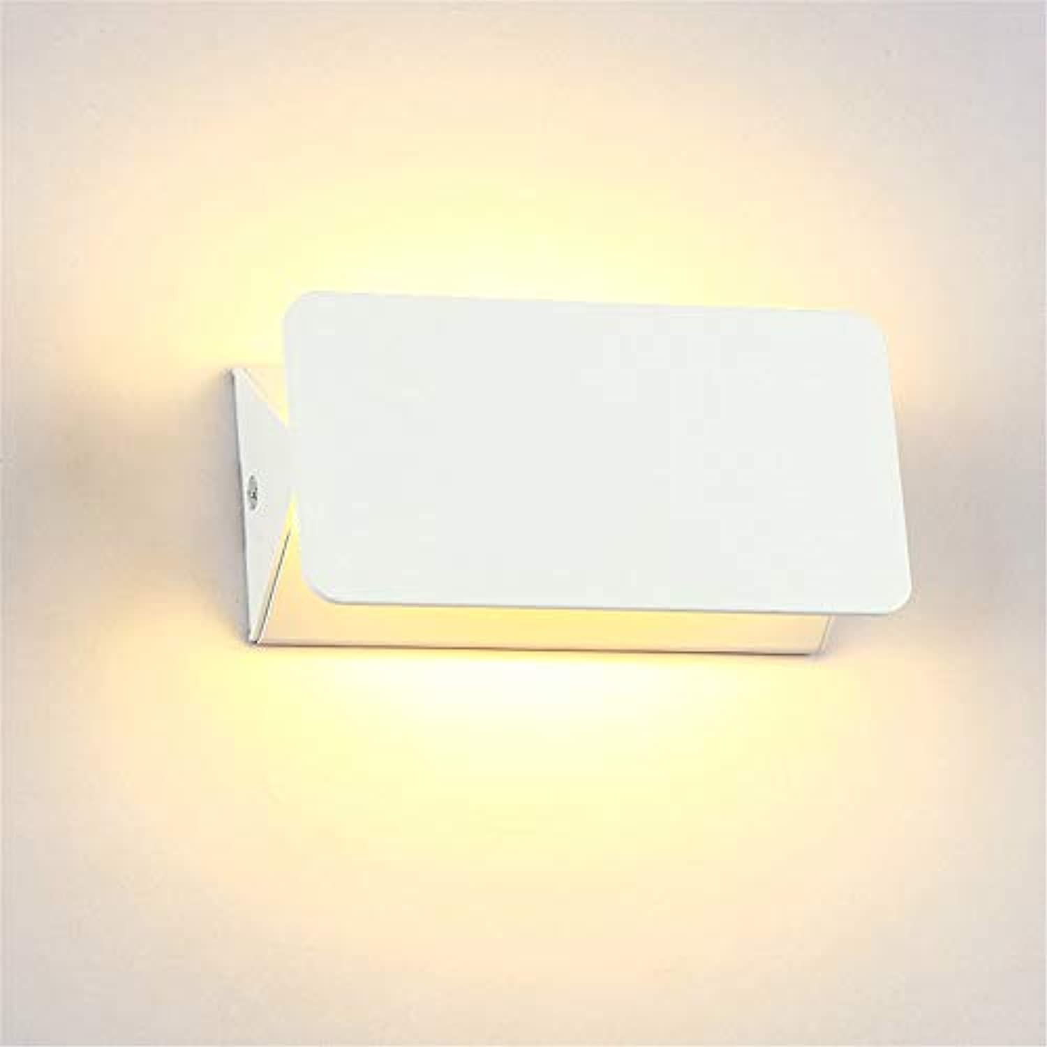 NOBLJX 5W Modern LED Wall Light Upper and Lower Wall Lamp Dimmable Winkel Waterproof Wall Lamp Creative Bedroom Living Room Corridor Garden Lighting,warmWeiß