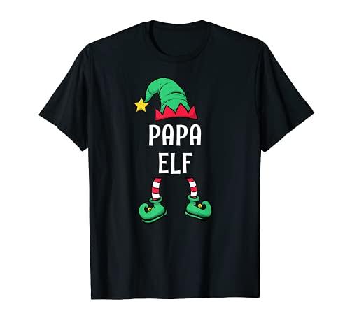 Herren Papa Elf Partnerlook Familien Outfit Männer Weihnachten T-Shirt