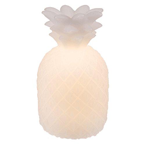 Lampe Blanche Ananas en cire Naturelle