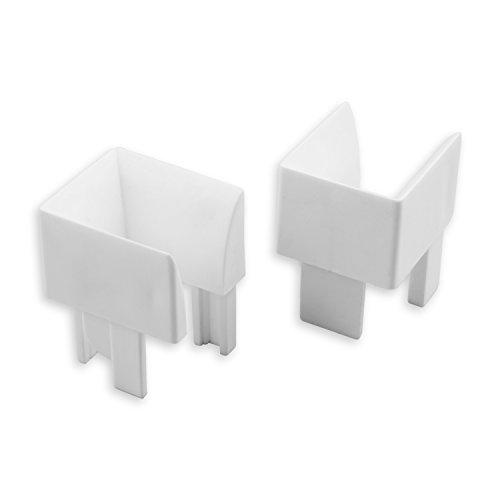 DIWARO® Einlauftrichter | für Kunststoff Rolladen-Führungsschienen 900 & 933 | weiß | Preis pro Paar