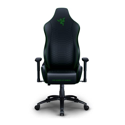 Razer Iskur X Ergonomic Gaming-Chair: Ergonomically Designed for Hardcore Gaming - Multi-Layered Synthetic Leather - High-Density Foam Cushions - 2D Armrests - Steel-Reinforced Body - Black/Green
