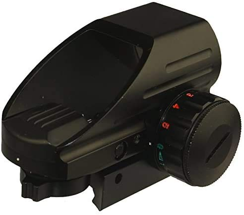 Field Sport Red and Green Reflex Sight With 4 Reticles, 3/8 Dovetail Base Mount for Airgun, Airsoft and .22 1022 10-22 Rifle