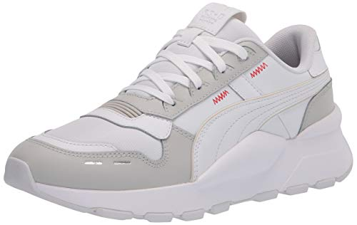 PUMA Tenis Rs 2.0 Base para hombre, (Vaporous Gray-puma Color blanco), 43.5 EU