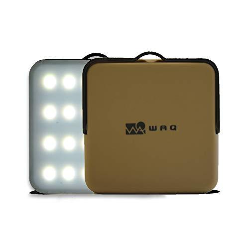 WAQ LEDランタン タン 暖色 電球色 昼光色 USB充電式 (1000ルーメン/10000mah/連続点灯24時間/PSE) WAQ-L01TA