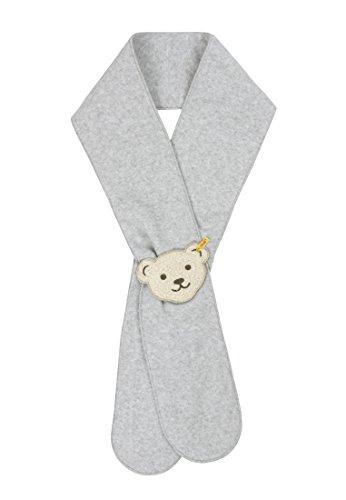Steiff Unisex - Baby Schal 0006895 Schal 16 Cm Breit, 120 Cm Lang, Einfarbig, Gr. One Size (Herstellergröße: Ii), Grau (Steiff Softgrey Melange 8200)