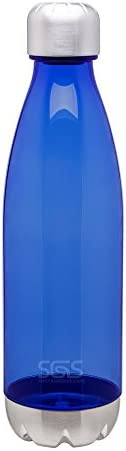 Sleek Single Wall Tritan - Cola Cold Beverage Water Bottle - 25oz. Capacity - Clear