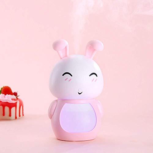YNHNI Deumidificatori USB Umidificatore del Fumetto Mini Umidificatore di Coniglio Carino Umidificatore Portatile Muto Home umidificatore Home (Color : Pink)