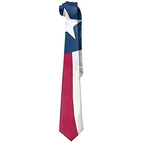 Corbatas creativas distorsionadas de los hombres de la bandera de Tejas Corbatas delgadas de la novedad-Regalo