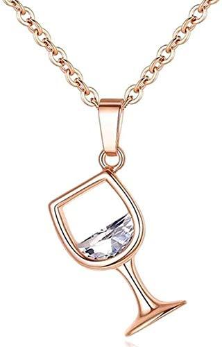 ZPPYMXGZ Co.,ltd Collar de Moda Joyería Regalo Copa de Vino Colgante Collar de Cadena para Mujer Tamaño 45cm