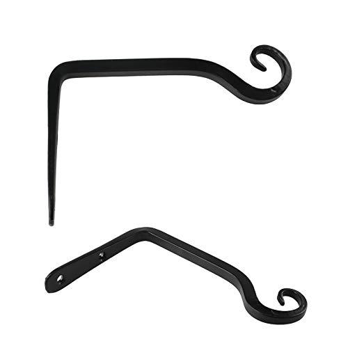 Laiashley Ganchos de hierro forjado básicos para montaje en pared, 2 unidades, hechos a mano, ganchos decorativos antiguos para llaves, toallas, sombreros y bolsos