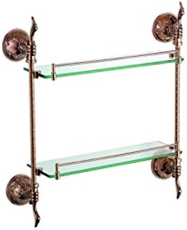 ULING GS0526-2 Double Glass Shelf Bathroom Hardware