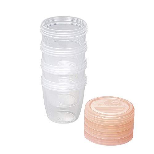 NIP first moments Muttermilchbehälter 150 ml, 4 Stück: stapelbar und auslaufsicher, Aufbewahrung und sicherer Transport