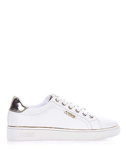 Moda De Lujo | Guess Mujer FL5BEKFAL12WHITE Blanco Fibras Sintéticas Zapatillas | Ss21