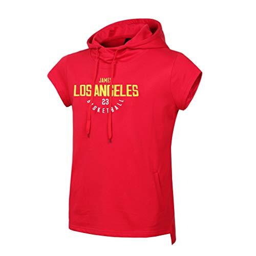 CHANGRAN Jersey de Baloncesto de Verano Los Ángeles Lakers # 23 James Camiseta sin Mangas Baloncesto Sudadera con Capucha Casual Ropa de Aptitud Casual Ropa roja,XL