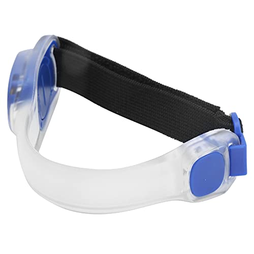 linxiaojix Brazalete LED, Correas Ajustables Brazalete Luminoso PVC + Silicona para Acampar para Deportes Al Aire Libre para Ciclismo para Conciertos(Azul)