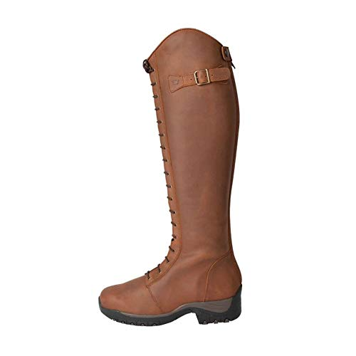 Fonte Verde Marvao Geschnürt Reitstiefel 41 (UK 7) Short/Regular Cognac