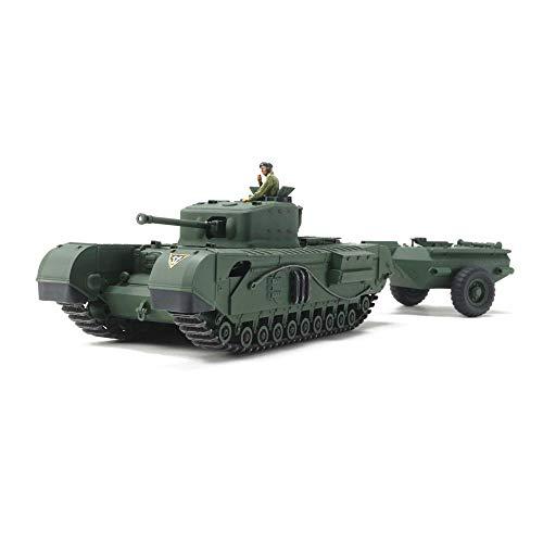 タミヤ 1/48 ミリタリーミニチュアシリーズ No.94 イギリス戦車 チャーチル Mk.7 クロコダイル プラモデル ...