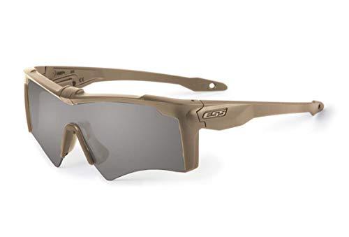 ESS Sunglasses Crossbow AF ONE Desert Tan with Smoke Gray Lens Sunglasses
