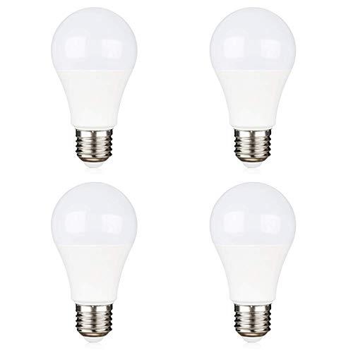 Lampadine E27 LED 12V per Fotovoltaico Solare, Luce Fredda 6000K, 9W Equivalente Alogena 75W, AC/DC 12V 24V, Non Dimmerabile, Lampadine LED 12 Volt 24 Volt per Camper/Giardino/Barca, set di 4