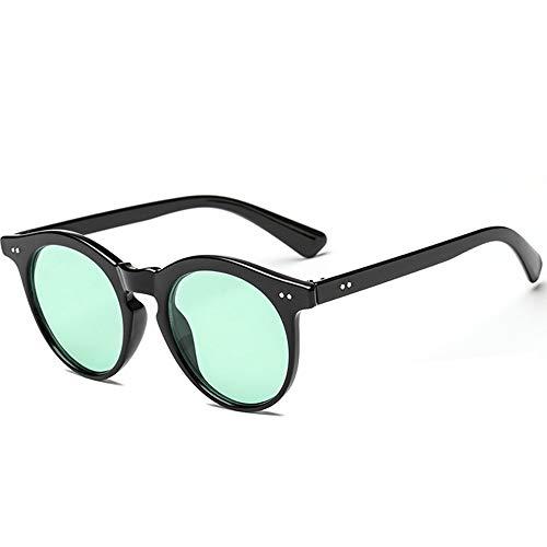 SHEEN KELLY Gafas de sol redondas retro clásicas de gran tamaño para mujeres, mujeres con remaches, gafas coloridas Protección UV400