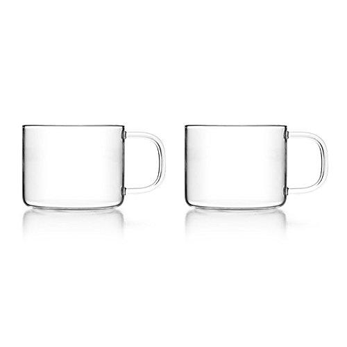 Juego de 2 vasos de té con asa, 150 ml de volumen de lleno/ideal para pequeñas cantidades de té o para una ceremonia del té con amigos / 2 vasos de té de 150 ml