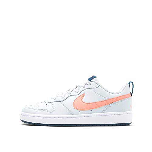 Nike Court Borough Low 2 (GS), Sneaker, Pure Platinum/Atomic Pink-Valerian Blue, 38 EU