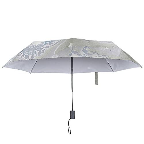 Marmor Textur Regenschirm Automatisch -Moderner Stil UV-Schutz Travel Regenschirm White Automatic