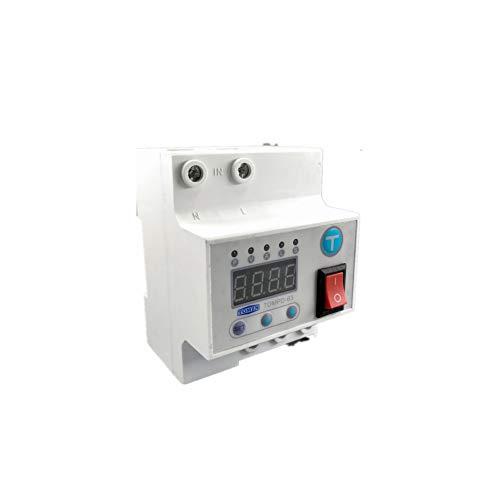 Disyuntor 63A Interruptor Automático De Reconexión Con Sobre Y Bajo Voltaje Sobre Corriente Corriente Contra Fugas Protección Contra Sobretensiones Relé