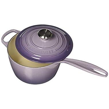 Le Creuset LS2518-18BPSS Enameled Cast-Iron Saucepan, 2 1/4 quart, Provence