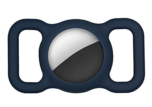 SKYWPOJU Housse de Protection en Silicone pour Animaux de Compagnie pour Airtag GPS Finder Boucle de Collier pour Chien et Chat, Housse de Protection en Silicone pour localisateur Anti-Perte réglable