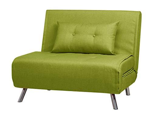 ARTDECO Schlafsessel Jugendsessel Gästebett Como Klappsessel Stoff grün groß