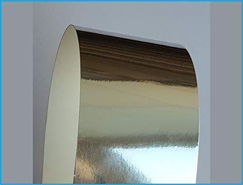 Papernova - Papel de espejo metálico (40 hojas), color dorado, plateado y blanco