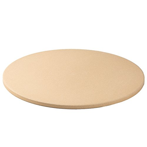Dofover 16.5' Round Cordierite Pizza/Bread Stone for Cooking & Baking on Oven & Grill - Personal Sized Pizza Grilling Stone/Baking Stone (16.5 Inch)