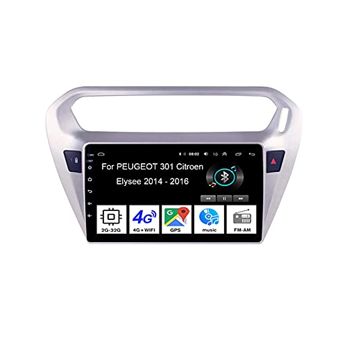 WJYCGFKJ Android Pantalla táctil Estéreo para automóvil Radio estéreo para automóvil de 9 Pulgadas Plug and Play para Peugeot 310 2013-2016 Accesorios para automóvil Radio para automóvil con Bluetoot