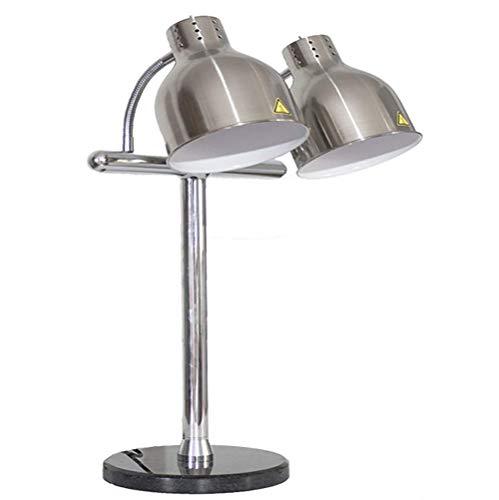 Levensmiddelverwarmingslamp, zelfbediening, levensmiddelhouder, lamp, tentoonstellinglamp, commerciële draagbare kop, levensmiddelen, vochtbestendige lamp, roestvrij staal, marmeren sokkel
