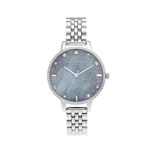 Olivia Burton Damen-Uhren Analog Quarz One Size Silber 32014925