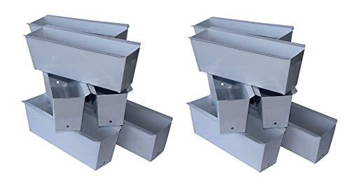 ARTECSIS Pflanzkasten Europalette 12er Set Weiß Aus Metall Blumenkasten Balkonkasten Blech Einsatz Für Paletten