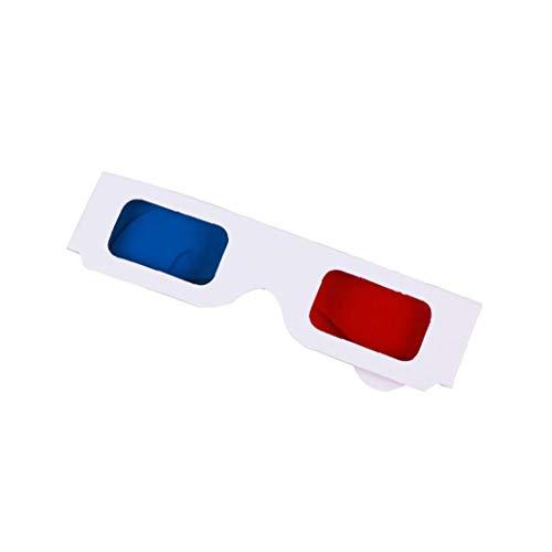 Papier Diffraction 3D-Brille Vreativew Film 3D-Brille Für Heim, Festivals, Clubs, Einzigartige Kinder Party Favors (rot, Blau)