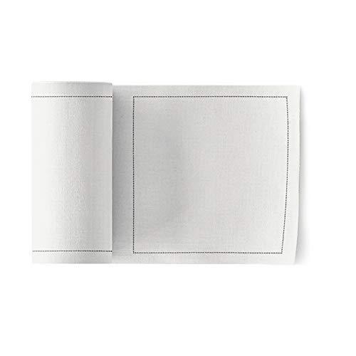 MYdrap Servilletas de cóctel, Algodón, color Blanco, tamaño 11x11 cm