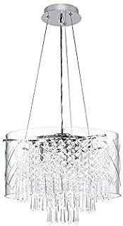 Style Selections Royalston Chrome Multi-Light Modern/Contemporary Crystal Drum Pendant